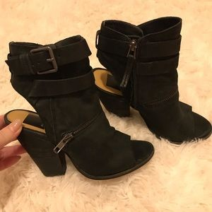 Dolce Vita Shoes - Dolce Vita 'Nayla' Open Toe Leather Bootie